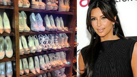 Schuhtick? Kim gewährt Einblick in ihren Schuhschrank (Bild: Twitter AP)