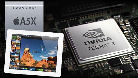 Nvidia verlangt Beweise für neue iPad-Grafikpower (Bild: Apple, Nvidia)
