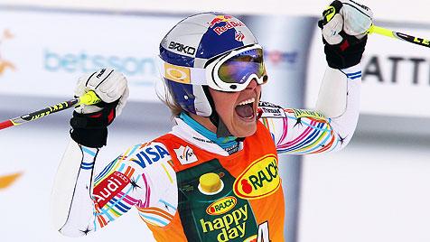 Vonn holt mit Riesentorlauf-Sieg den Gesamtweltcup (Bild: EPA)