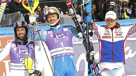 Myhrer gewinnt den Slalom, Debakel f�r die �SV-Herren (Bild: AP)