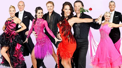 """Zeugnistag für die """"Dancing Stars""""-Herren (Bild: ORF/Ali Schafler, krone.at-Grafik)"""