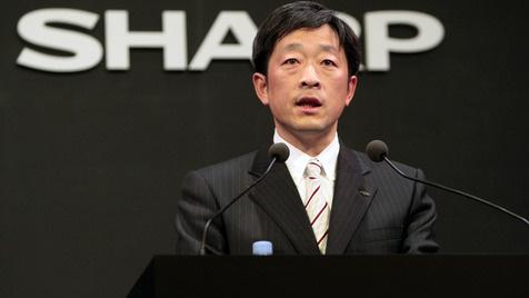 Sharp wechselt nach Rekordverlust Präsidenten aus (Bild: AP)