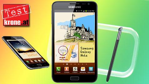 Das Galaxy Note: Zu großes Handy oder zu kleines Tablet? (Bild: Samsung, krone.at-Grafik)