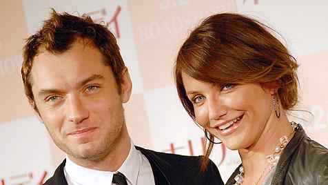 Jude Law: Was läuft da mit Kollegin Cameron Diaz? (Bild: AP)