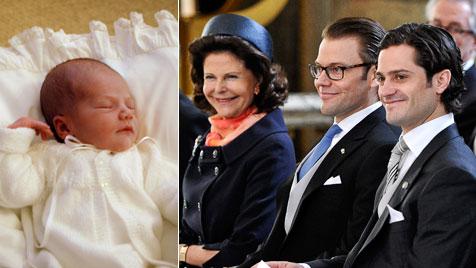Königin Silvia schwärmt von ihrem Enkelkind (Bild: AFP, EPA)