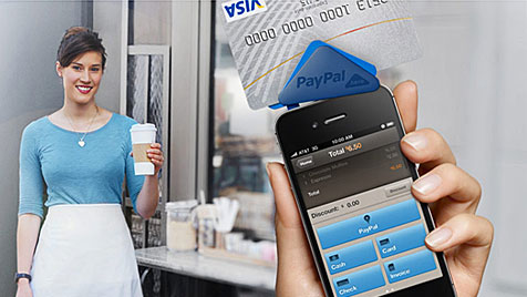 Kreditkarten-Lesegerät fürs Handy von PayPal (Bild: paypal.com)
