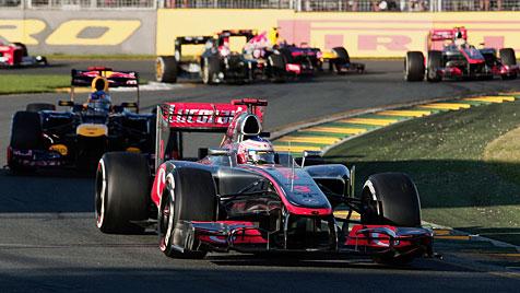 Button triumphiert beim F1-Auftakt in Melbourne (Bild: dapd)