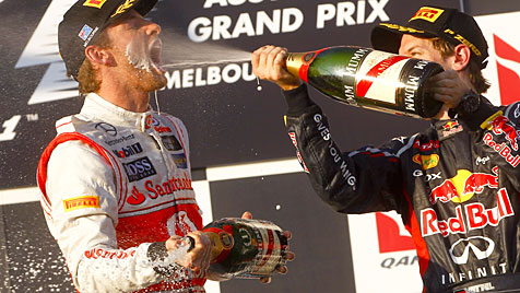 Button triumphiert beim F1-Auftakt in Melbourne (Bild: EPA)