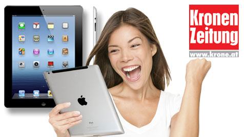 """Mit der """"Krone"""" und krone.at das neue iPad gewinnen! (Bild: Apple, iStockPhoto)"""