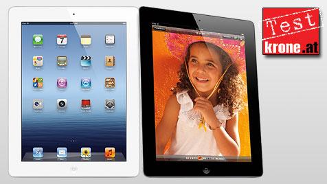 Apples neues iPad mit eindrucksvoller Pixel-Power (Bild: Apple, krone.at-Grafik)