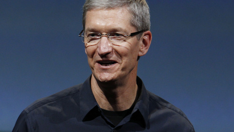 Apple-Chef Cook besucht iPhone-Fabrik in China (Bild: AP)