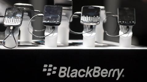 Auch weiterhin BlackBerrys mit Tastatur (Bild: Nigel Treblin/dapd)
