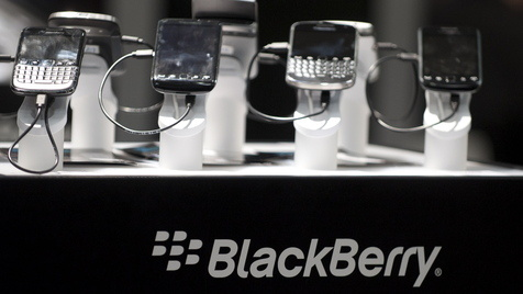 Mieses Quartal für Blackberry-Macher Research in Motion (Bild: Nigel Treblin/dapd)