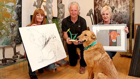 """Charity-Ausstellung """"Arte Noah"""" für den Tierschutz (Bild: Gabi Haas)"""