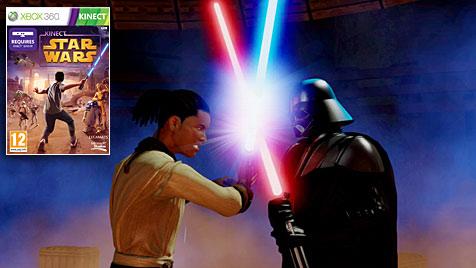 """Kreuzt die Luft-Lichtschwerter in """"Kinect Star Wars"""" (Bild: Microsoft)"""