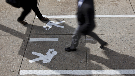 Philadelphia führt SMS-Spur für Fußgänger ein (Bild: AP)