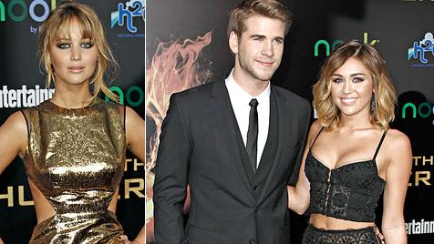 Miley Cyrus: Eifersüchtig auf Jennifer Lawrence? (Bild: AP)