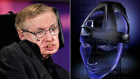 "Stephen Hawking als Tester: ""iBrain"" liest Gedanken (Bild: EPA, neurovigil.com)"