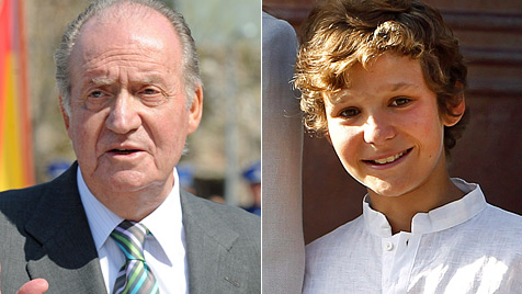 Ältester Enkel des spanischen Königs schoss sich in Fuß (Bild: AFP, EPA)