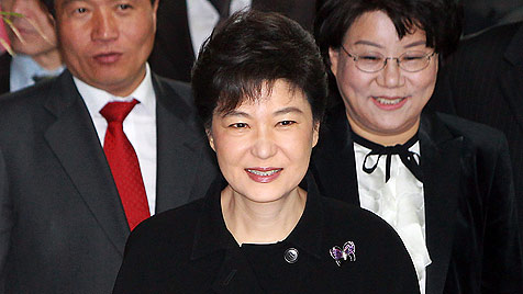 S�dkoreas Pr�sidentin Park Geun Hye droht Nordkorea. (Bild: EPA)