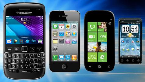 BlackBerry gewinnt Sicherheits-Test - Android Schlusslicht (Bild: thinkstockphotos.de, Hersteller, krone.at-Grafik)