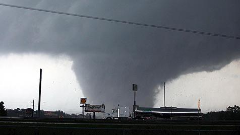 Seit 1951 wurden in �sterreich 90 Tornados registriert (Bild: AP)