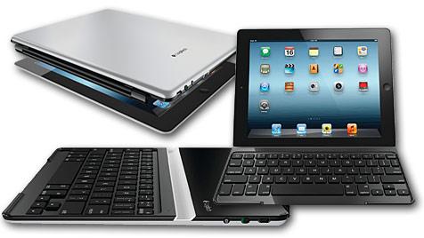 Logitech-Zubehör vereint Hülle und Tastatur fürs iPad (Bild: Logitech)