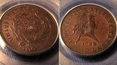 Penny aus dem Jahr 1792 für über 1 Mio. Dollar versteigert (Bild: dapd)