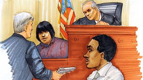 Jennifer Hudson unter Tränen im Zeugenstand (Bild: AP)