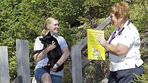"""Den """"Alm-Hunde-Führerschein"""" in Kärnten machen (Bild: Oliver Pichler, Sonnenhotel Zaubek)"""