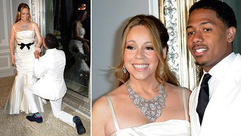 """Mariah Carey und ihr Nick sagten in Paris nochmal """"Ja"""" (Bild: EPA)"""