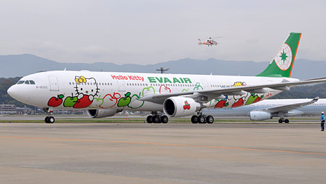 "Taiwan: Airline fliegt mit Jets im ""Hello Kitty""-Design (Bild: Eva Air)"