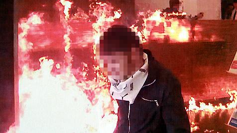Brandanschlag auf Linzer Bank: Beide Zündler gefasst (Bild: Repro/Markus Schütz)