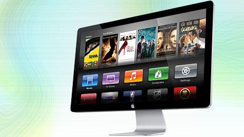 Gerüchte über Apple-Fernseher mit Kamera und Siri (Bild: Apple, krone.at-Grafik)
