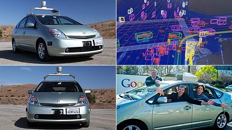 Roboterautos von Google haben die Lizenz zum Fahren (Bild: EPA, dapd)