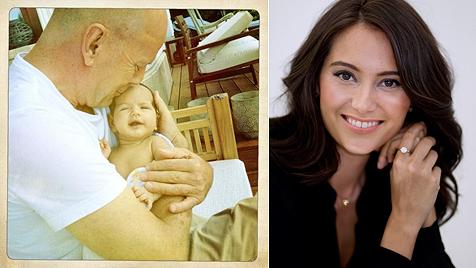 """Töchterchen Mabel macht Bruce Willis """"wieder jung"""" (Bild: twitter.com/@EmmaHeming, dapd)"""
