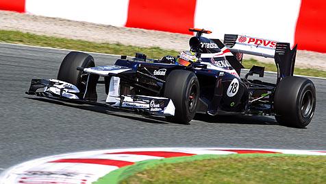 Maldonado gewinnt sensationell vor Alonso, Räikkönen (Bild: EPA)
