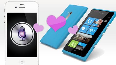iPhone empfahl Nokias Lumia 900 - und umgekehrt! (Bild: Apple, Nokia, krone.at-Grafik)