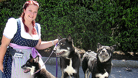 """Züchterin: """"Meine Hunde präsentieren sich gerne im Ring"""" (Bild: Denise Zöhrer)"""