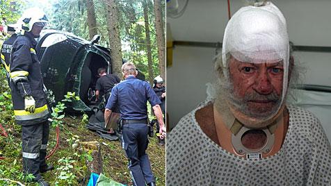 100-jähriger Pfarrer hatte bei Autounfall viele Schutzengel (Bild: APA/FF SELKER-NEUSTADT/Christoph Gantner)