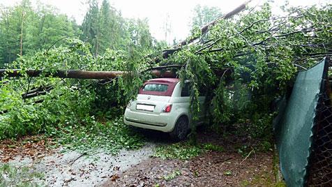Schwere Unwetter tobten in Salzburg und der Steiermark (Bild: Polizei)