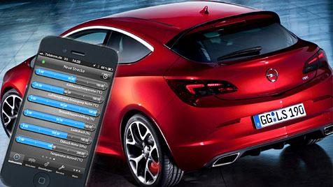 iPhone-App zeigt Telemetrie-Daten des Opel Astra OPC (Bild: Opel)