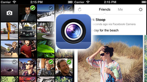 "Facebook startet eigene Foto-App ""Camera"" (Bild: facebook.com, krone.at-Grafik)"