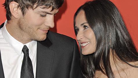 Liebes-Comeback bei Ashton Kutcher und Demi Moore? (Bild: EPA)