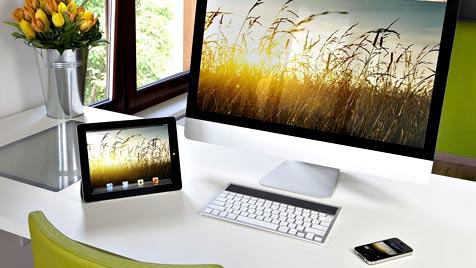 Solarbetriebene Tastatur für iPad und Co von Logitech (Bild: Logitech)