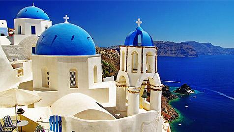 Sirtaki auf dem Vulkan in Santorini und Mykonos (Bild: thinkstockphotos.de)