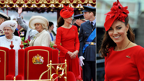 Bezaubernde Kate hat der Queen fast die Show gestohlen (Bild: AFP)