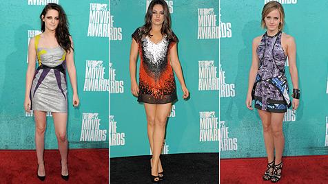 Kurz, kürzer, Mini: So sexy waren die MTV Movie Awards (Bild: AP)