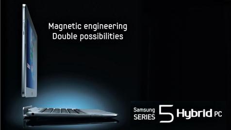 """Samsung stellt """"Hybrid PC"""" für Windows 8 vor (Bild: Samsung)"""