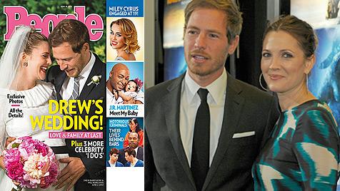 So schön war Drew Barrymore bei ihrer Hochzeit (Bild: People Magazine, dapd)